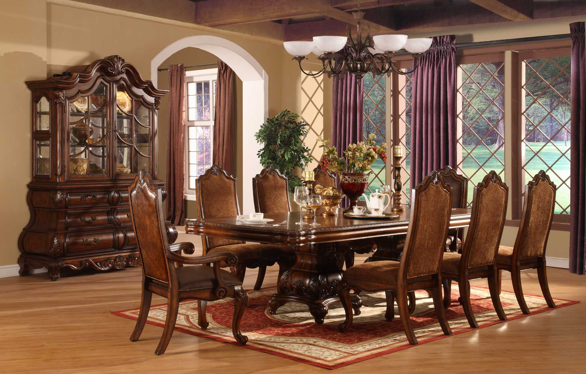 Tips to get the best dining room sets actual home - Elegant dining room chairs ...