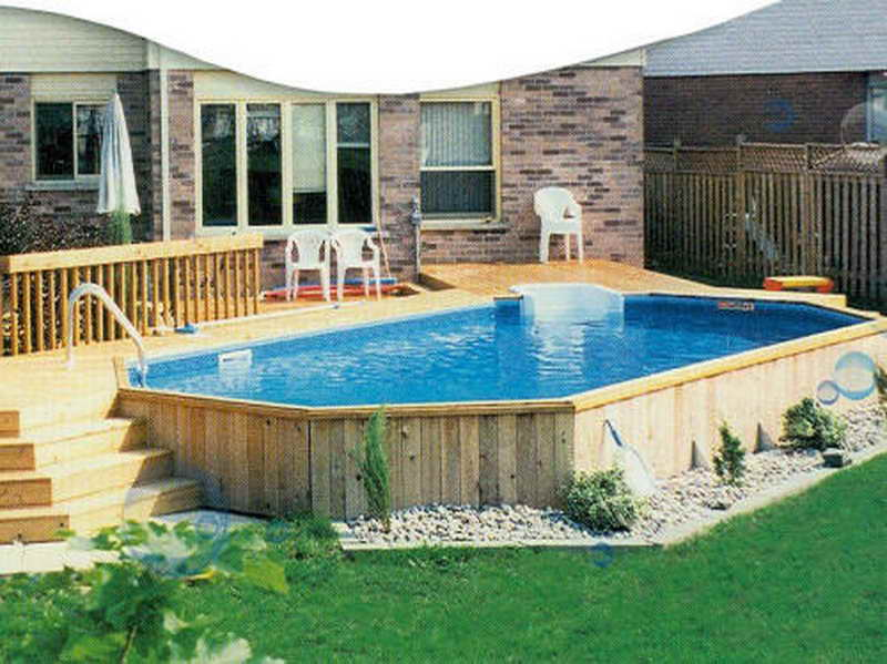 backyard designs with above ground pool