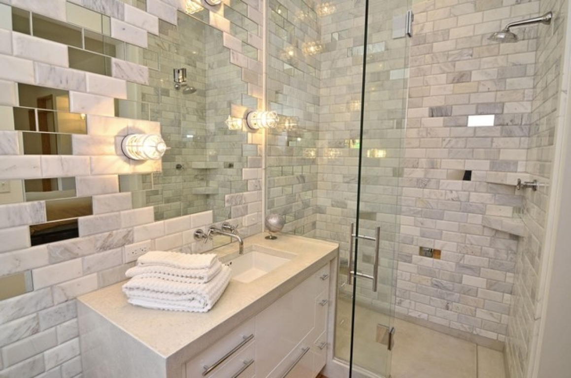 darcy wallpaper tiles shower