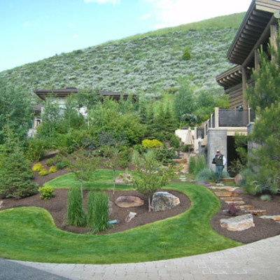 evergreen landscaping design 5