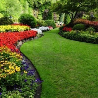 flower bed designs in formal garden