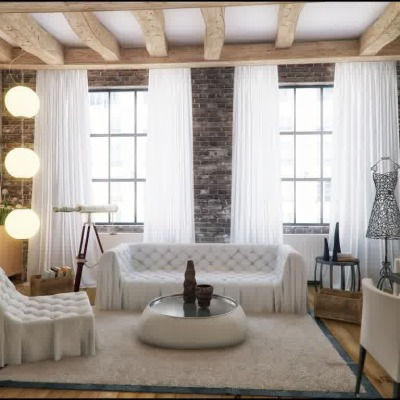 loft decorating ideas picture