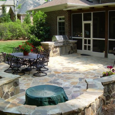 patio ideas stone