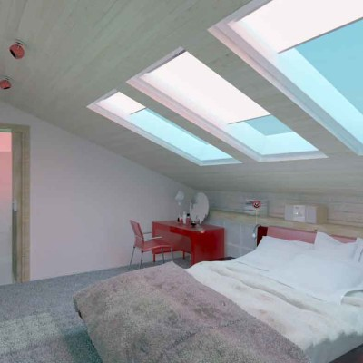 Painting Attic Bedroom design Ideas
