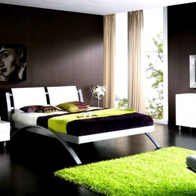 Dark Green Bedroom design Ideas