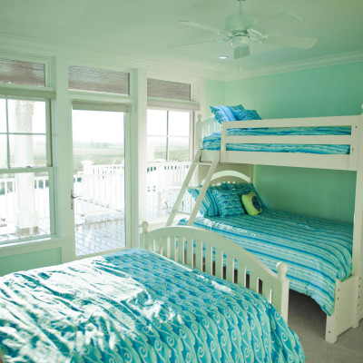 Blue and Green Bedroom design Ideas