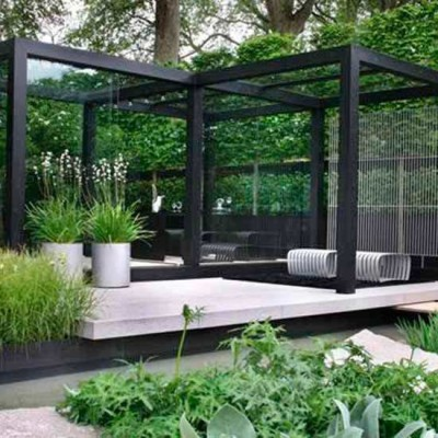 Modern gardens ideas for an elegant garden view actual home for Contemporary gardens