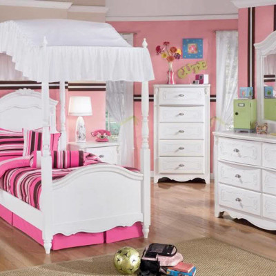 Girls White Bedroom