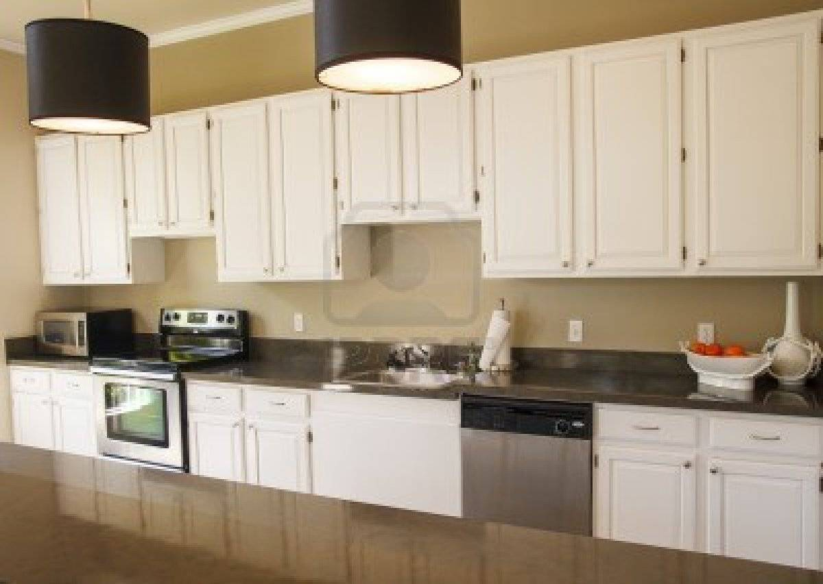 White Kitchen Cabinets Granite Countertop