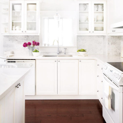 White Kitchens with White Appliances