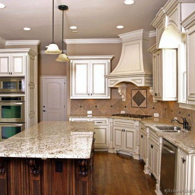 Vintage White Kitchen Cabinets