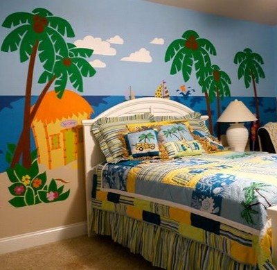 beach bedroom kids