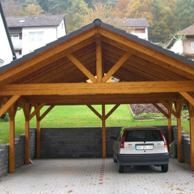 Carport ideas for the best protection of your vehicle for Open carport plans