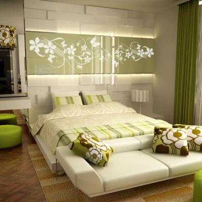 creative green bedroom ideas