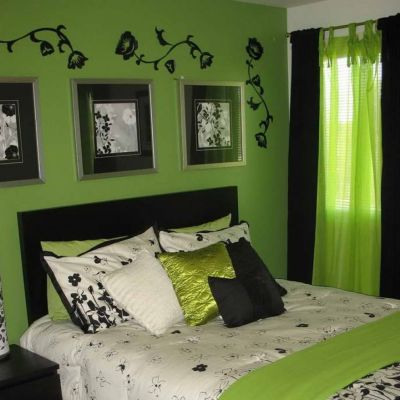 green bedroom ideas with classy design