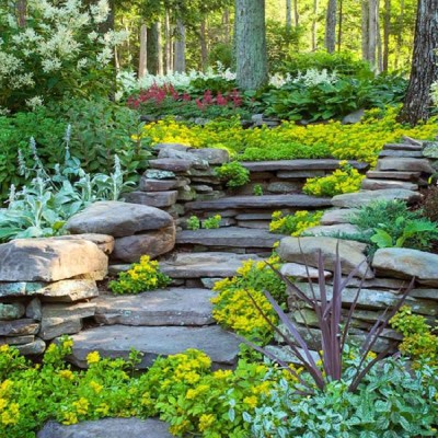 Garden Steps Ideas for Steep Hillside