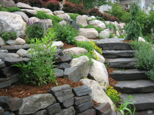 hillside landscaping design