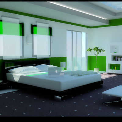 modern green bedroom ideas