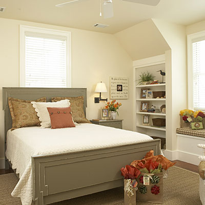 simple bedroom decor with dormers