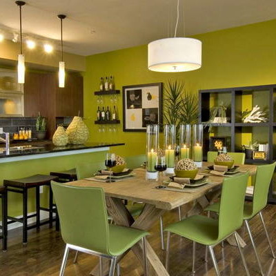 Green Dining Room Pictures