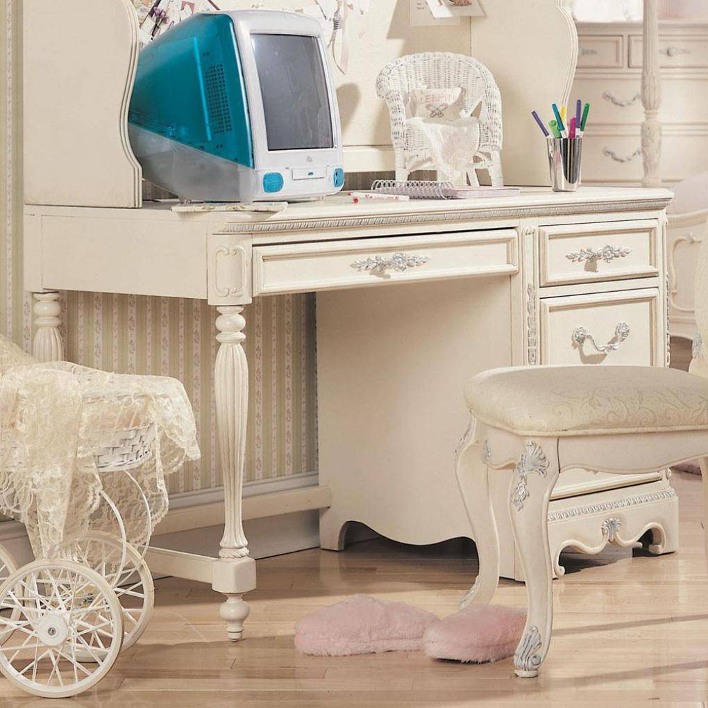 Antique Office Desk White