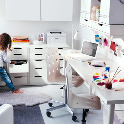 Ikea White Office Furniture