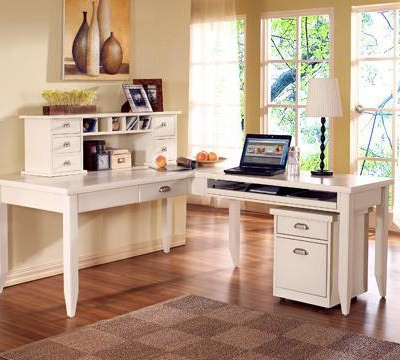 Kathy Ireland White Office Furniture