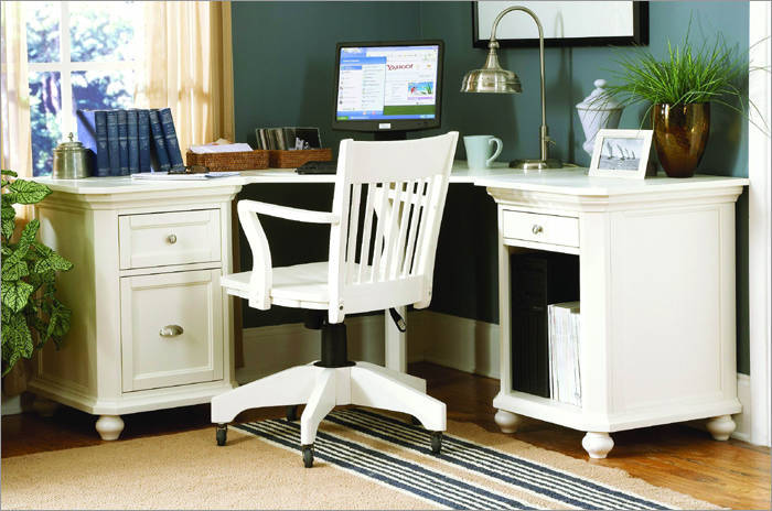 White Cottage Style Office Furniture