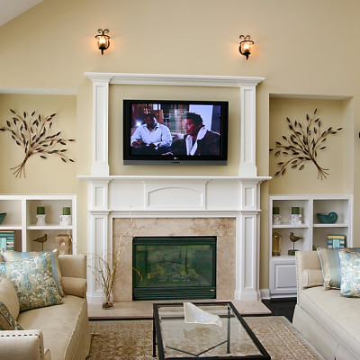 Family room decorating ideas with fireplace actual home - Beautiful corner fireplace design ideas for your family time ...