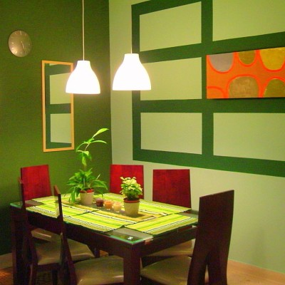 Green Dining Room Color For Cheery Ambiance