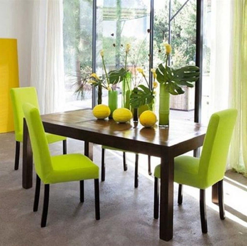 Green dining room color for cheery ambiance actual home Green room decorating ideas