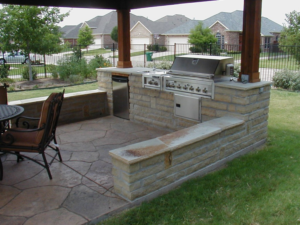 inexpensive outdoor kitchen ideas