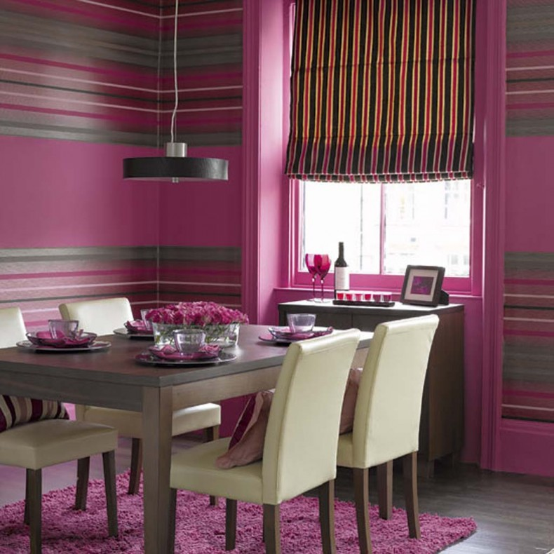 purple dining room color schemes