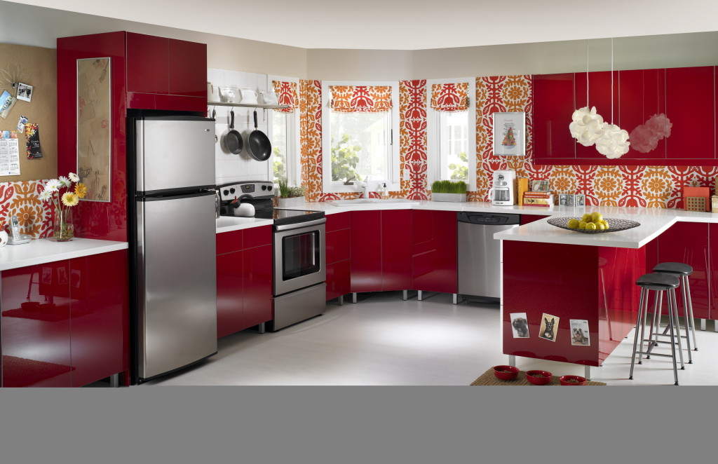 red kitchen theme
