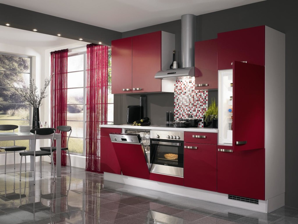 small red kitchen theme ideas