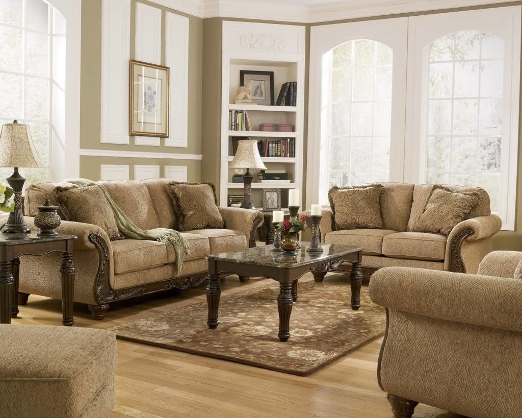Tips for designing traditional living room decor actual home for Living room furniture images