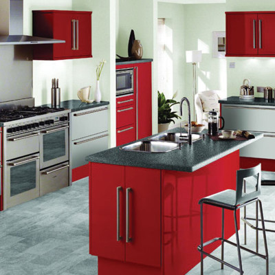 white and red kitchen theme ideas