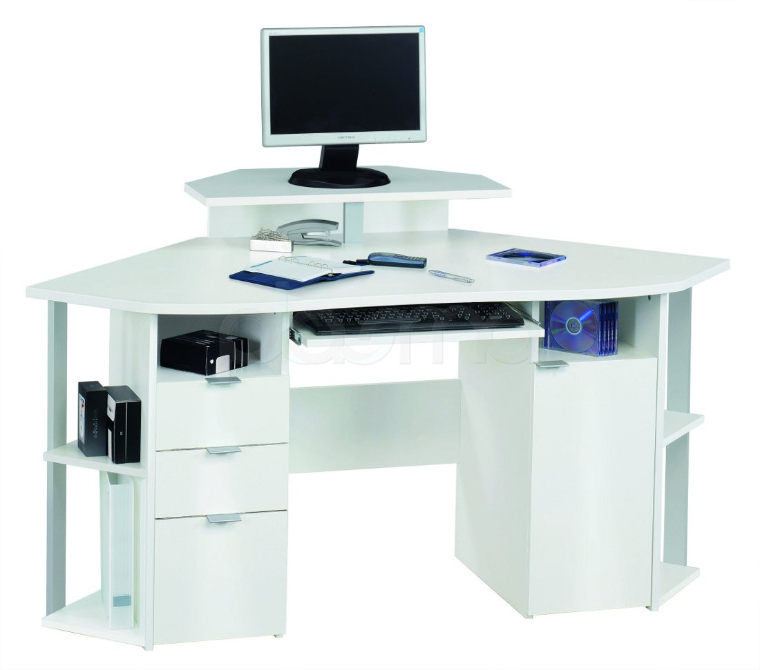 White office desk the best option for your table actual for The best office desk