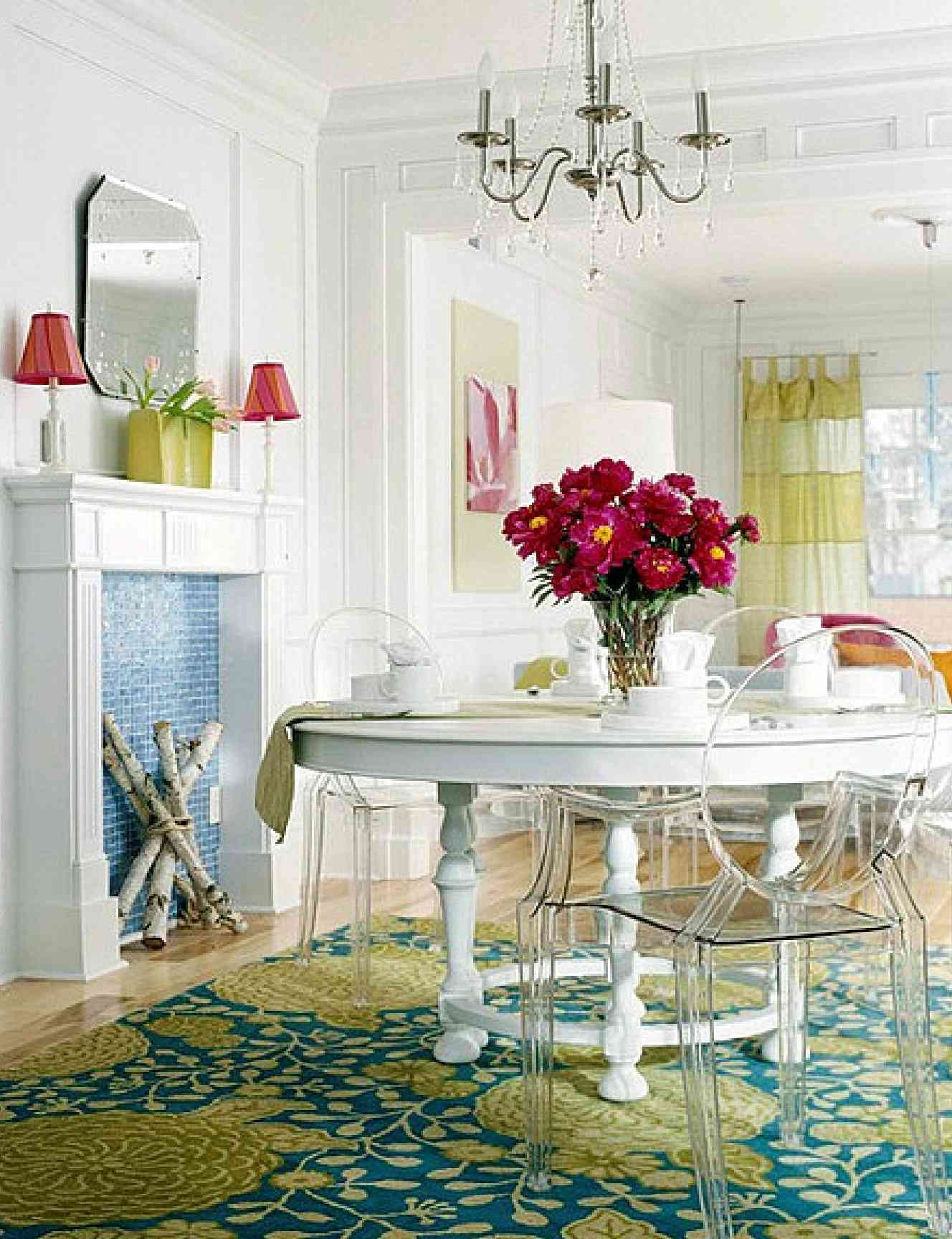 Dining room design round table for the incredible benefits for White dining room decor