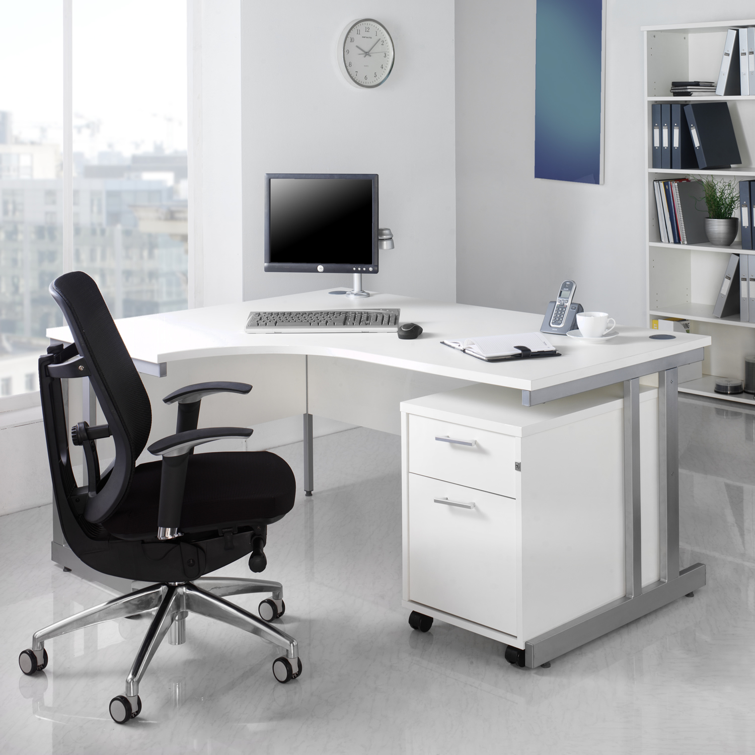 White office furniture for timeless style actual home - Office furnitur ...