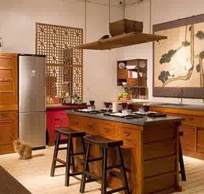 small asian kitchen design