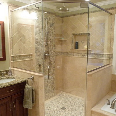 cheap master bathroom shower ideas