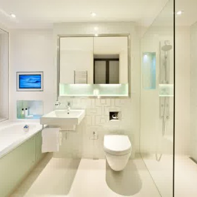 white bathroom interior design