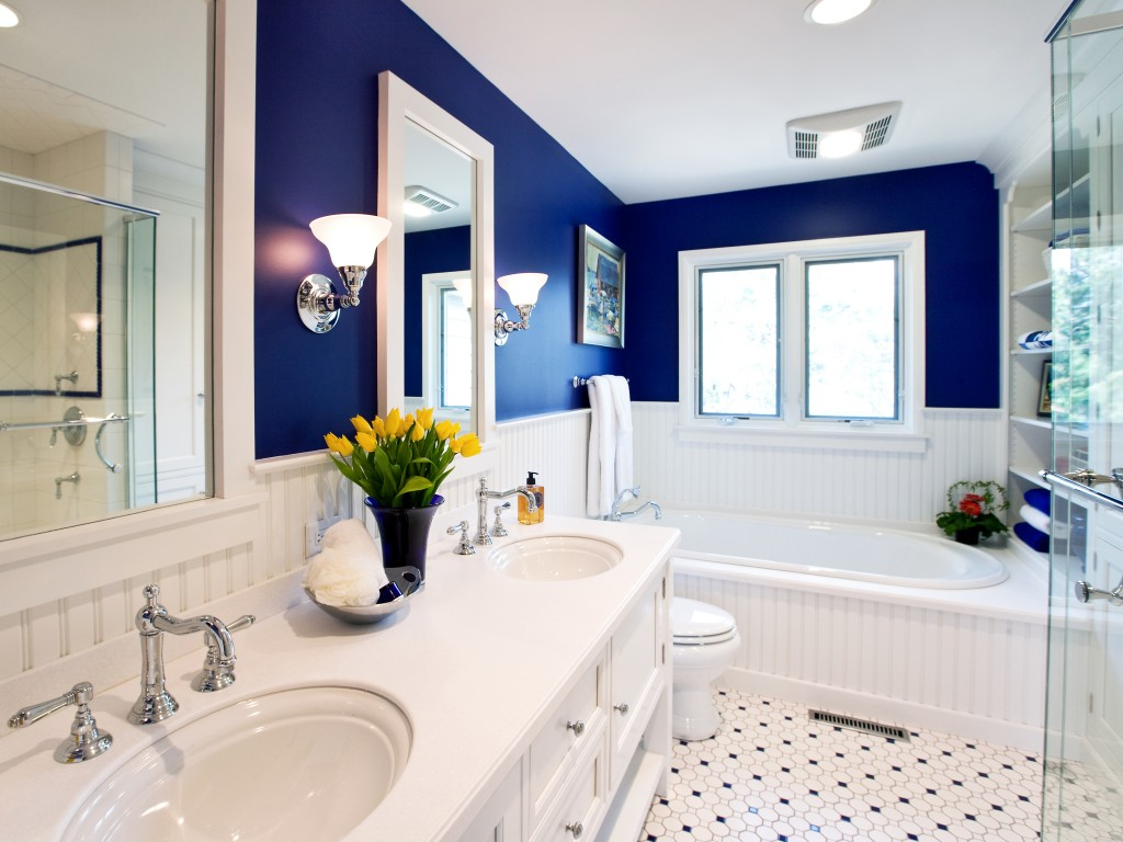 with and blue bathroom paint ideas