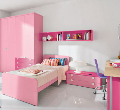 Simple-pink-Girl-Bedroom-Designs