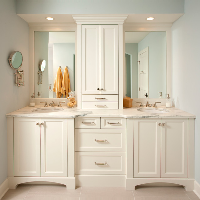 Creative  Inch White Cabinet Wallmount Bathroom Vanity With Mirror And Shelves