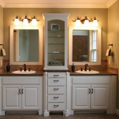bathroom-modern-small-master-bathroom-ideas-with-shutter-double-vanity-and-unpolished-ceramic-tile-also-wall-sconce-shade-luxurious-small-master-bathroom-ideas