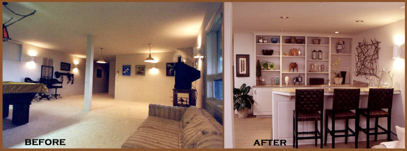 basement bedroom ideas before and after