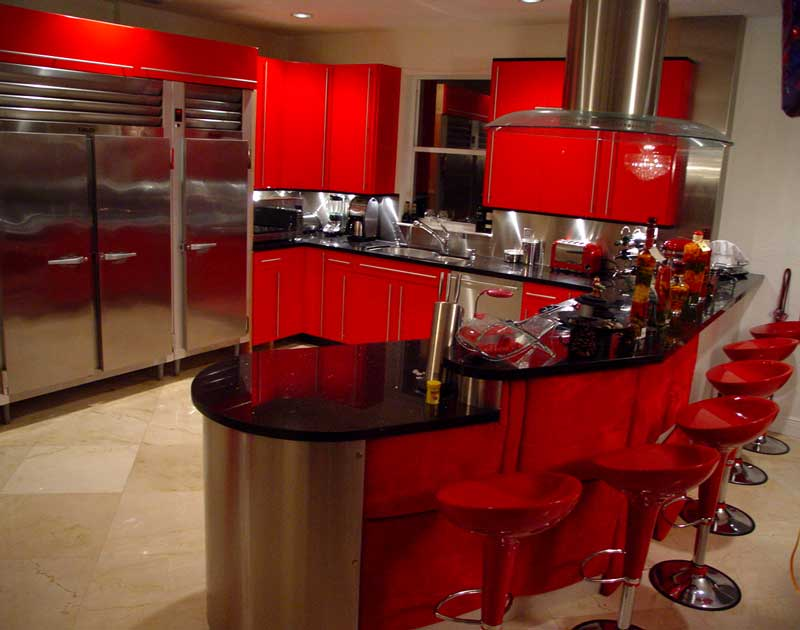 black and white kitchen decorated with red kitchen theme ideas for kitchen s modern look actual 619