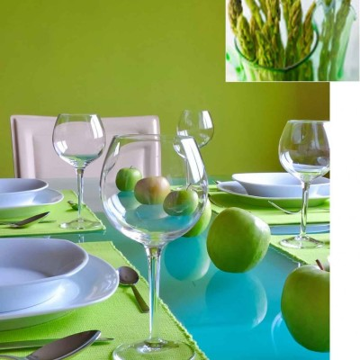green dining room color scheme